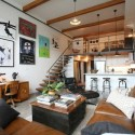 loft design and room decor in loft style