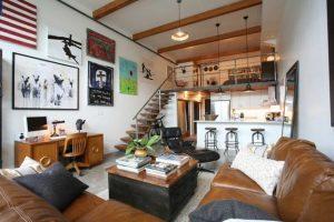 loft design and room decor in loft style
