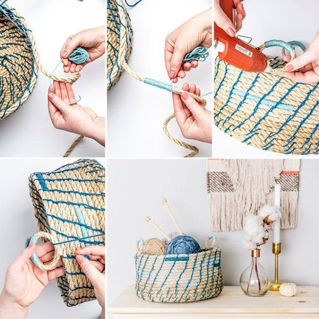 how to make storage basket with rope