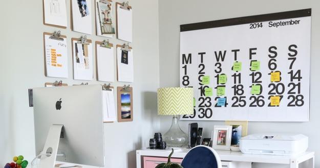 20 Cheap Ideas To Create Diy Calendars For Unique Wall