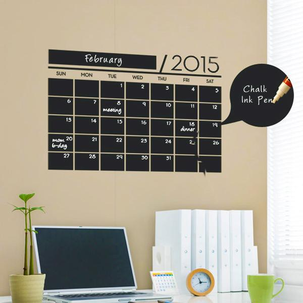 Home Design Ideas Blackboard: 20 Cheap Ideas To Create DIY Calendars For Unique Wall
