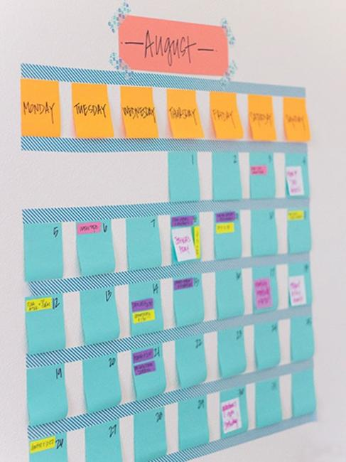 20 cheap ideas to create diy calendars for unique wall