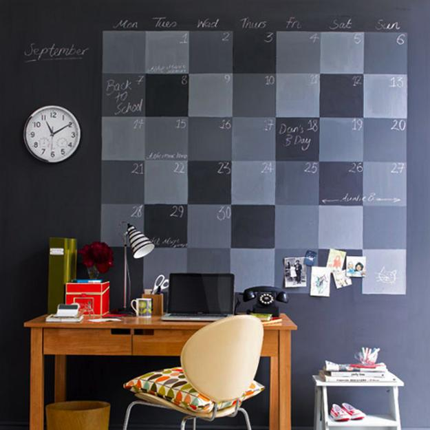 Wall Decoration Making : Cheap ideas to create diy calendars for unique wall