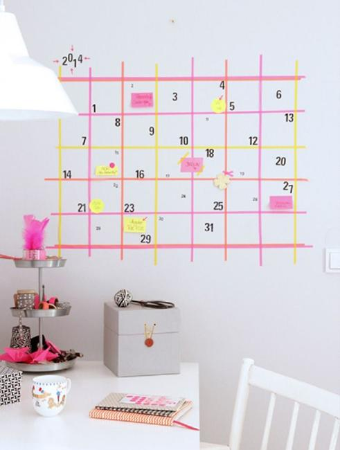 Creative Handmade Calendar Ideas : Cheap ideas to create diy calendars for unique wall