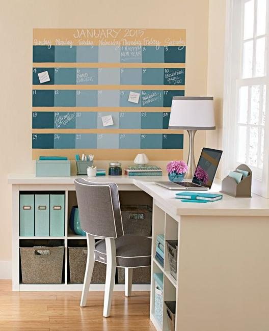 Calendar Ideas For Office : Cheap ideas to create diy calendars for unique wall