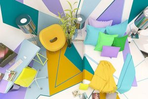 bright room colors for home decorating in kandinsky style