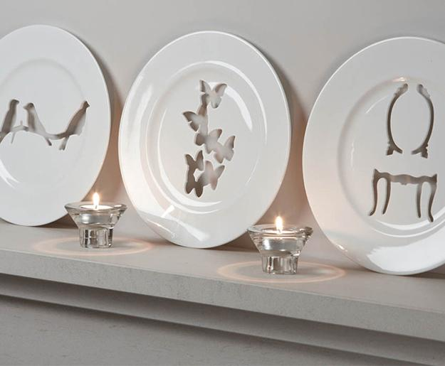 how to hang decorative plates and create spectacular displays on empty
