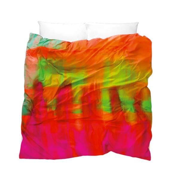 colorful bedding sets with art painting prints