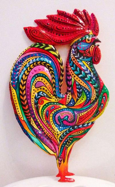 Wood Crafts Ideas Charming Roosters To Jazz Up Room Decor