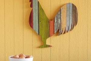 rooster art in home decor