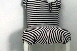 black white stripes chair upholstery