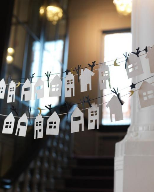 paper garlands handmade themed decorations