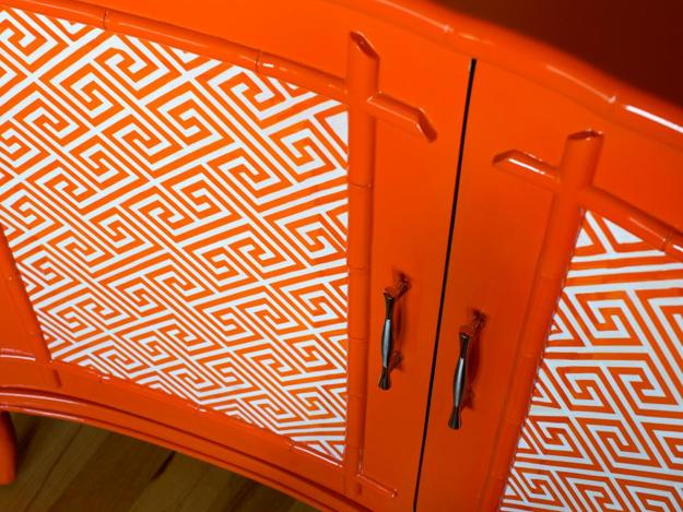 meander pattern, orange paint color