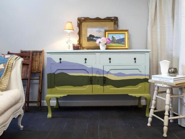 creative painting idea for bedroom furniture