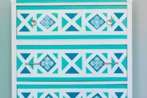 geometric pattern furniture painting