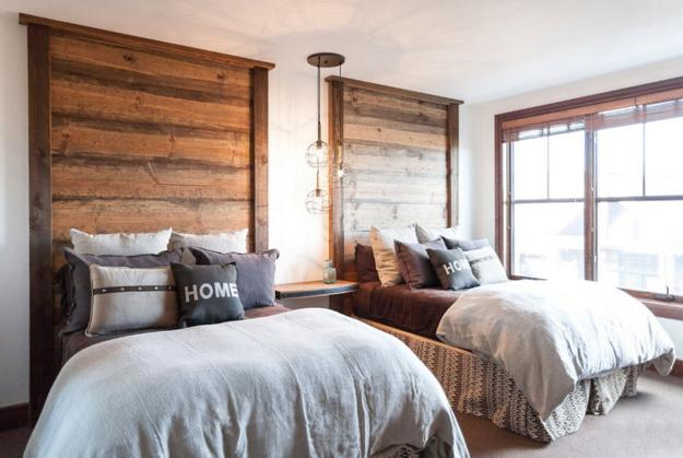 reclaimed wood bed headboard