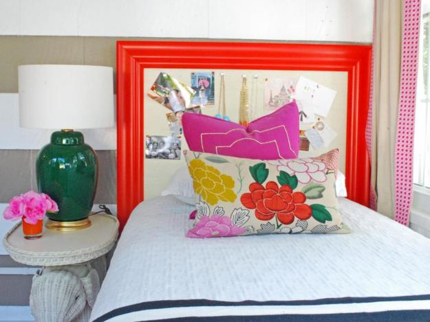 colorful headboard