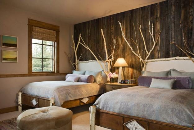 bedroom decorating branches