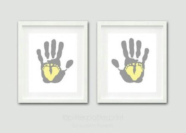wall art big hands little feet