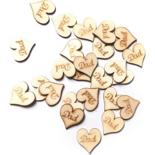 wooden hearts decorations