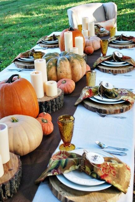 pumpkin candle centerpieces