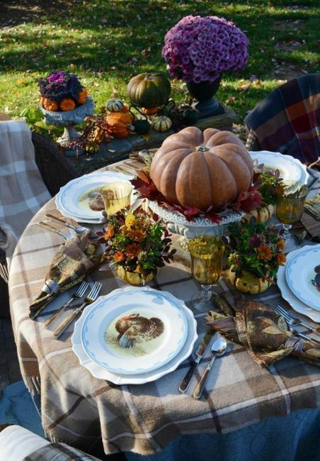 Outdoor Thanksgiving Table Decoration, 40 Fall Ideas for ...