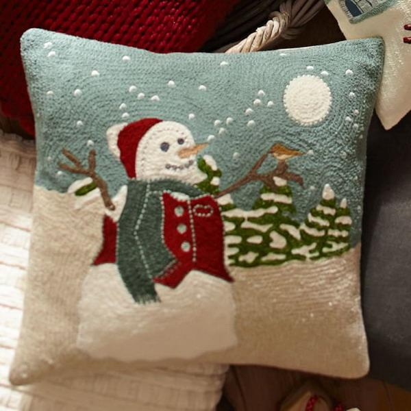 snowmen pillow