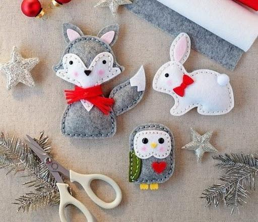 fox rabbit owl handmade decorations