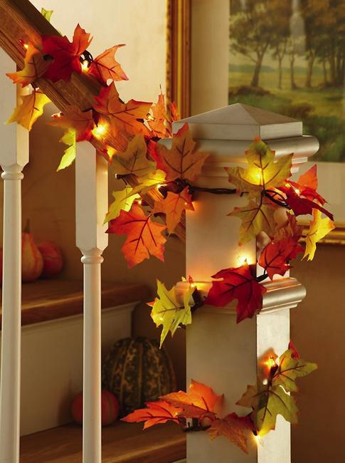 handmade garland fall decorations